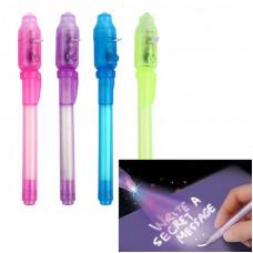 Шпионская ручка с невидимыми чернилами и UV фонариком