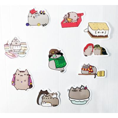 """Набор стикеров Кот Пушин """"Pusheen the cat"""" №5"""