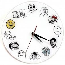 """Настенные часы """"TrollFace"""""""