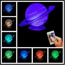 """3D светильник """"Jupiter"""" с пультом"""
