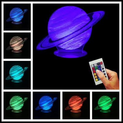 """3D светильник """"Jupiter"""" с пультом 16 цветов подсветки"""