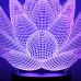 """3D светильник """"Лотос"""" 7 цветов подсветки"""