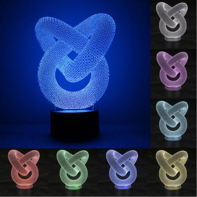 """3D светильник """"Спираль2"""" 7 цветов подсветки"""