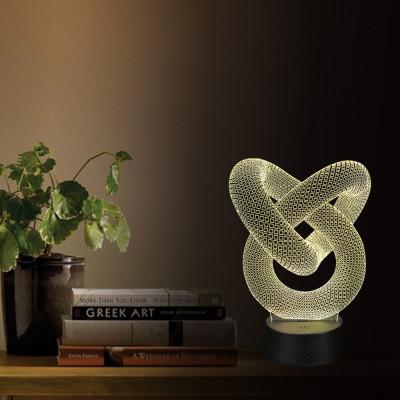 """3D светильник """"Спираль2"""" автономный - питание от батареек или USB"""