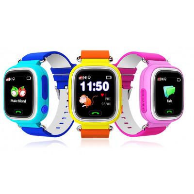 Детские GPS часы со встроенным телефоном smart baby watch Q80 на приложении SeTracker