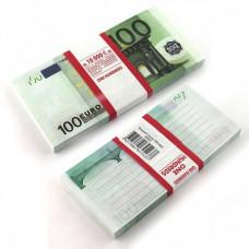 Блокнот Пачка 100 евро