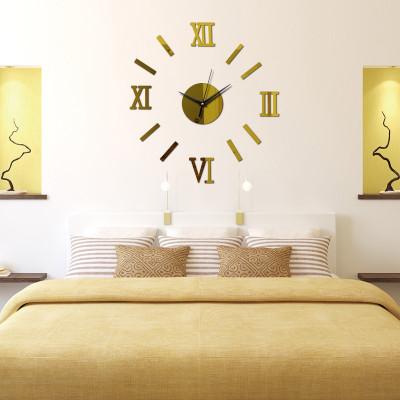 Настенные часы самоклеящиеся «Римские Цифры»