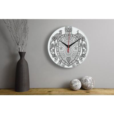Настенные часы-раскраска Черепаха (краски и кисточка в комплекте)