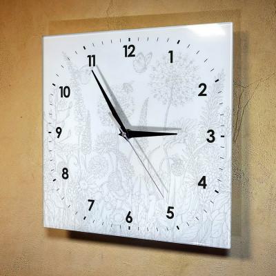 Настенные часы-раскраска Цветы (краски и кисточка в комплекте)