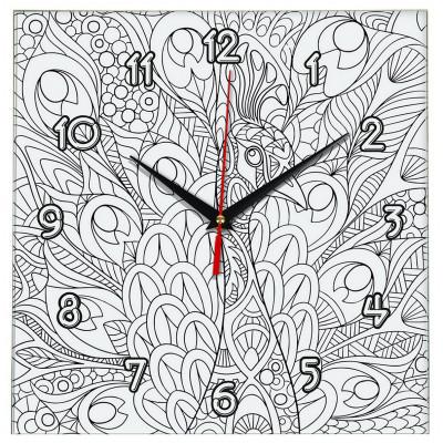 Настенные часы-раскраска Павлин