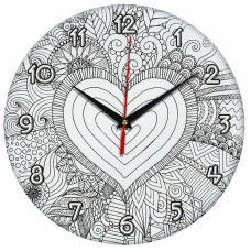 Настенные часы-раскраска Сердце