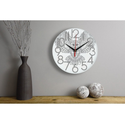 Настенные часы-раскраска Сова (краски и кисточка в комплекте)