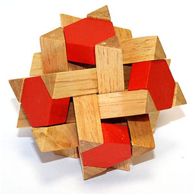 Головоломка деревянная в корпусе Камета