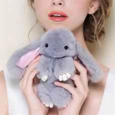 """Брелок """"Кролик"""" из меха 19 см"""