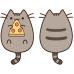 """Подушка Кот Пушин """"Pusheen the cat"""" с пиццей 30см"""