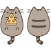 "Подушка Кот Пушин ""Pusheen the cat"" с пиццей"