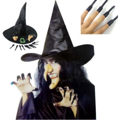 Костюм ведьмы (шляпа, повязка, борода)