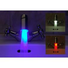 Насадка на кран с подсветкой воды и термодатчиком + переходник