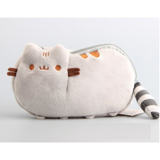 Пенал плюшевый Кот Пушин (Pusheen the cat)