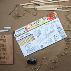"Набор ""Travel-антистресс"" (карандаши, блокнот, почтовые карточки)"