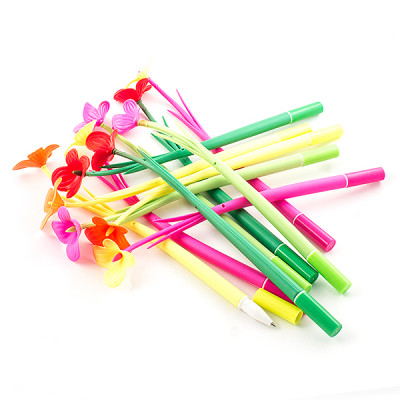 Ручка шариковая с цветочком