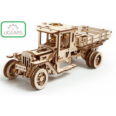 Конструктор Механический 3D-пазл UGears Грузовик UGM-11