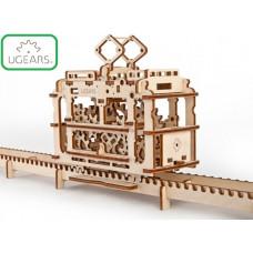 3D-пазл UGears Трамвай с рельсами