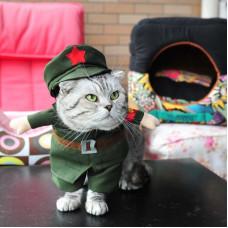 """Костюм для кошек и собак """"Корейский вождь - Ким Чен Ин"""""""