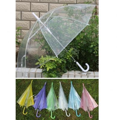 Зонт-трость прозрачный