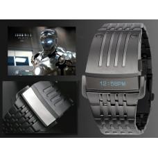 """Часы наручные мужские металлические Diesel """"Iron Man"""" темная сталь/светлая сталь"""