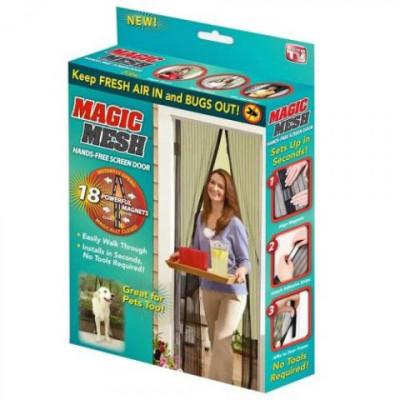 Москитная сетка на магнитах magic mesh (меджик меш)