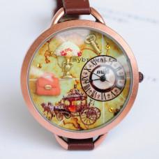 "Часы наручные ""Lady vintage"" Mini. Сделаны вручную. Корея"