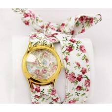 Женские часы на хлопковом ремешке