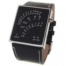 Часы наручные бинарные Жажда скорости 29 LED красно-синие/ремешок кожа