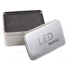 Коробочка для часов металл LED WATCH прямоугольная
