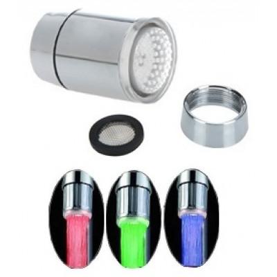 СВЕТОКРАН - насадка на кран с подсветкой воды и термодатчиком + переходник