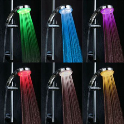 СВЕТОДУШ - леечка для душа с подсветкой. 7 цветов подсветки GR-F007