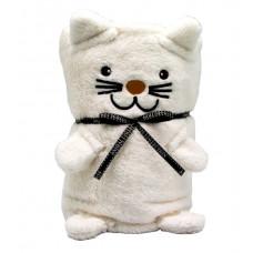 """Плед-Игрушка """"Белый Котик""""60 x 90 см"""