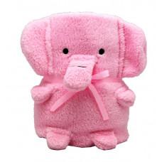 """Плед-Игрушка """"Розовый Слоник""""60 x 90 см"""