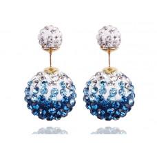 "Серьги-пусеты ""Diamond"" (синий градиент)"