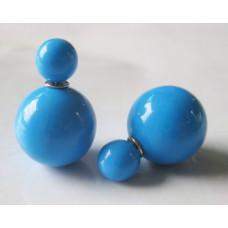 """Серьги-пусеты """"Caramel"""" (голубой)"""