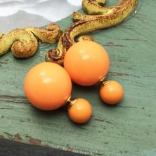 """Серьги-пусеты """"Caramel"""" (оранжевый)"""