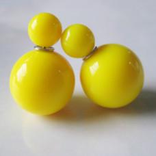 """Серьги-пусеты """"Caramel"""" (желтый)"""