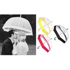 Прозрачный зонт-трость с кантом по контуру купола Birdcage