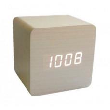 """Настольные часы """"Куб"""" в деревянном корпусе"""