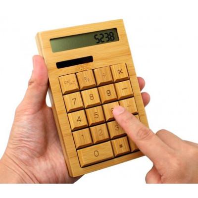 Купить Бамбуковый калькулятор на солнечной батарее в интернет магазине необычных и оригинальных подарков Главчудо Ру. Лучшая цена. Доставка.Самовывоз.Лучшие цены.