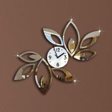 """Часы настенные """"Цветок"""" зеркальные"""