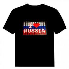 """Футболка с эквалайзером """"I love Russia"""""""