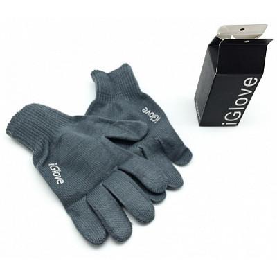 Перчатки для сенсорного экрана iGlove (Черный/Серый)