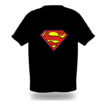 """Купить LED Футболка с эквалайзером """"'супермен"""" в интернет магазине необычных и оригинальных подарковГлавчудо Ру. Лучшая цена. Доставка.Самовывоз.Лучшие цены."""